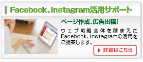 Facebook、Instagram活用サポート